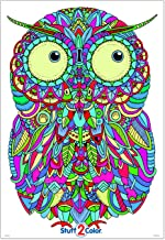 Baby Owl - Giant Coloring Poster - 32.5