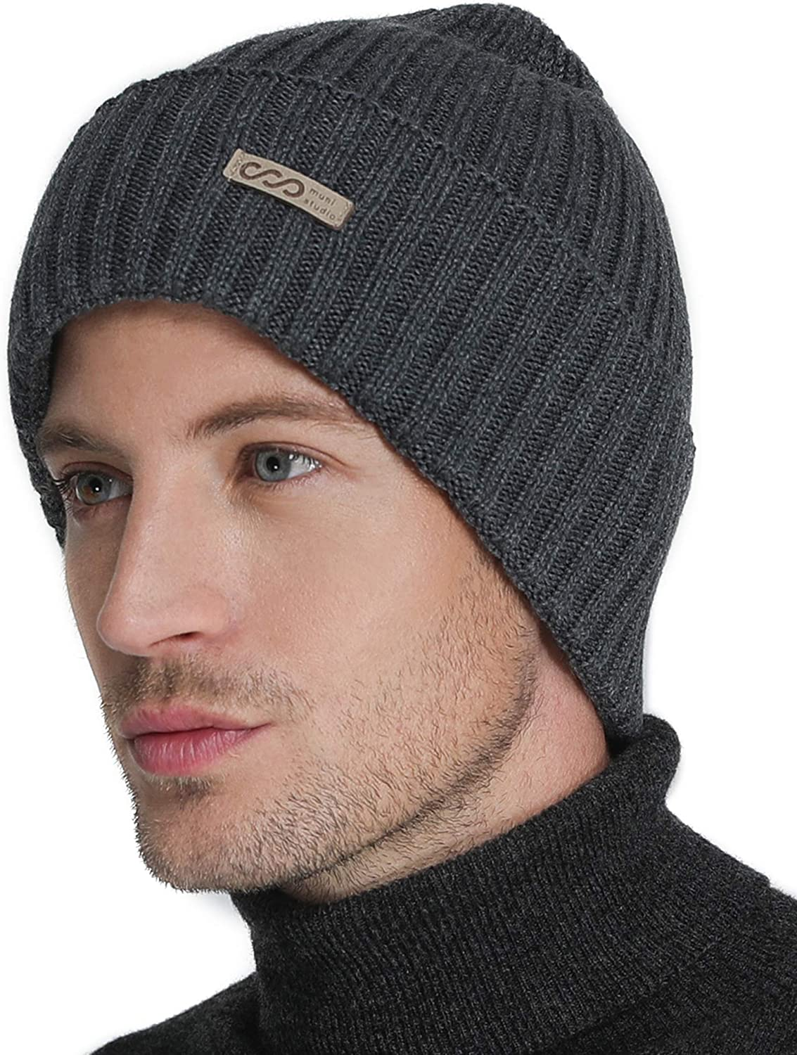 In stock Winter Cotton Beanie Today's only for Men Warm Knitted Soft Stretch B Hat
