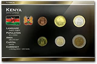 KE 1995-2005 Kenya 10 Cents-20 Shillings Coin Set Unc Uncirculated