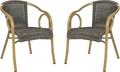Safavieh Outdoor Living Collection Dagny Wicker Arm Chairs
