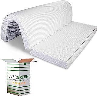 Evergreenweb – Colchón para sofá cama plegable 160x190 de poliuretano 10 cm de alto, listo para plegar sobre el asiento revestimiento hipoalergénico ortopédico ergonómico lazos de fijación BED SOFA