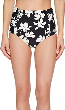 MICHAEL Michael Kors Floral Vine High-Waisted Bikini Bottoms