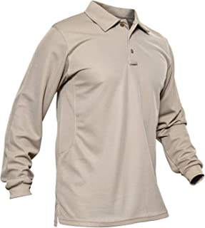 KEFITEVD Polos de Manga Larga de Secado rápido para Hombres Camisetas de Trabajo de Golf Camiseta de Pesca al Aire Libre