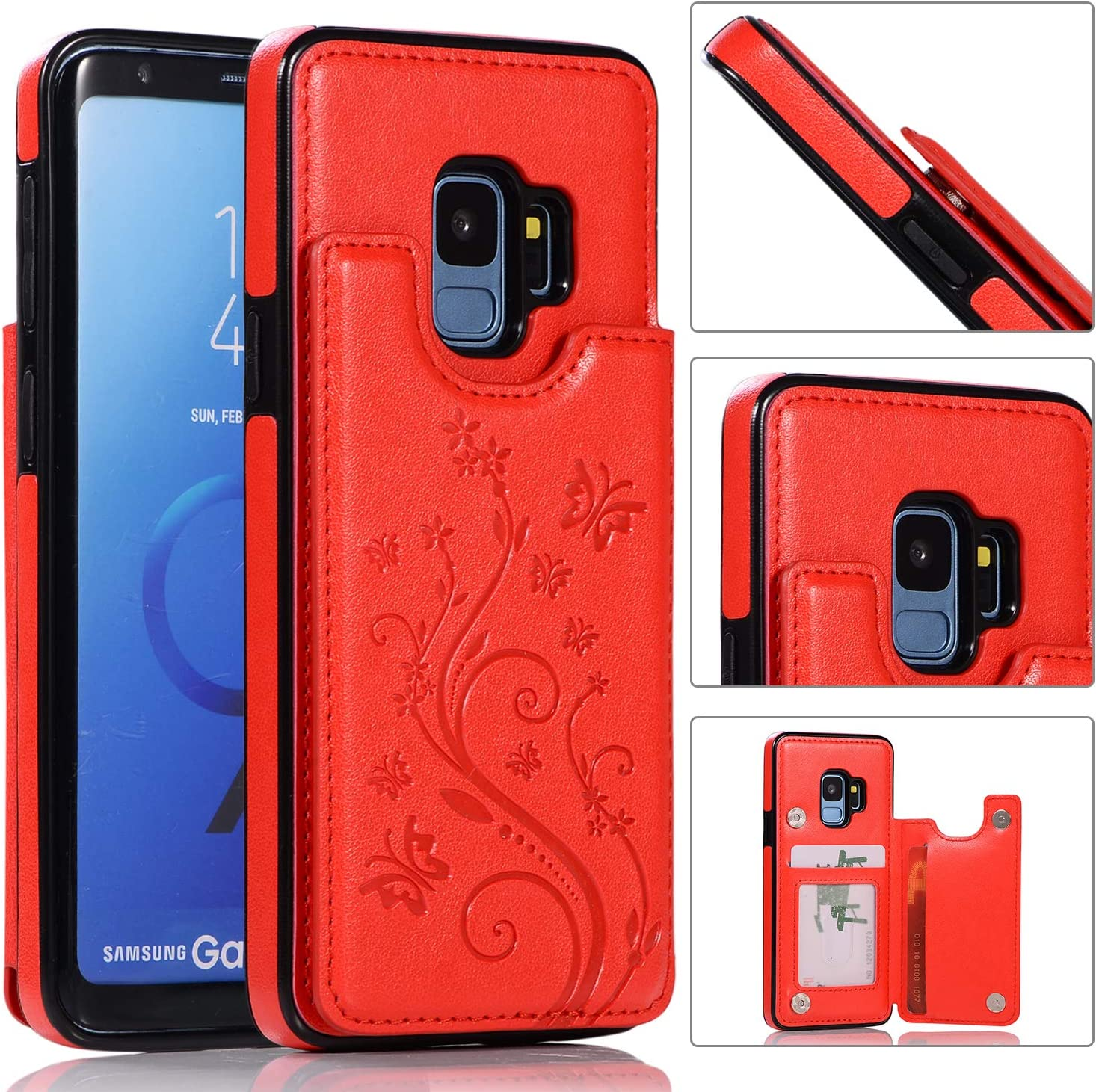 Back Wallet Case for Samsung Galaxy Recommended Elegant S9 Stand with QFFUN Wholesale