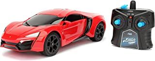 Jada Toys Fast & Furious Lykan Hypersport- Ready To Run RC/Radio Control Toy Vehicle Car, Red, 1: 16 Scale