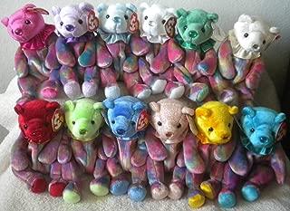 TY **BIRTHDAY BEANIE BEARS** COMPLETE SET- ALL 12 BIRTHSTONE NOSES *MWMT* Clown Version