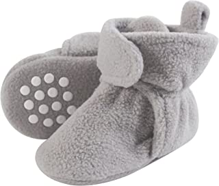 c34e36e770f Luvable Friends Baby Cozy Fleece Booties with Non Skid Bottom