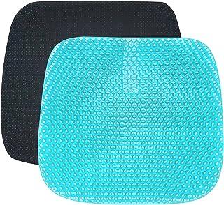 Gel Seat Cushion, Super Ademend Honingraat Ontwerp Multi-Gebruikte Seat voor Thuis Kantoor Stoel Auto Wheelstoel Thuis met...
