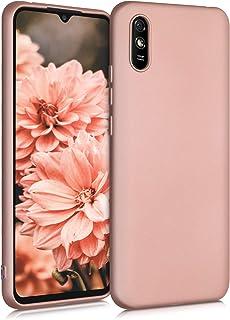 kwmobile telefoonhoesje compatibel met Xiaomi Redmi 9A - Hoesje voor smartphone - Back cover in metallic roségoud