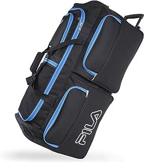 7-Pocket Large Rolling Duffel Bag, Black/Blue, One Size