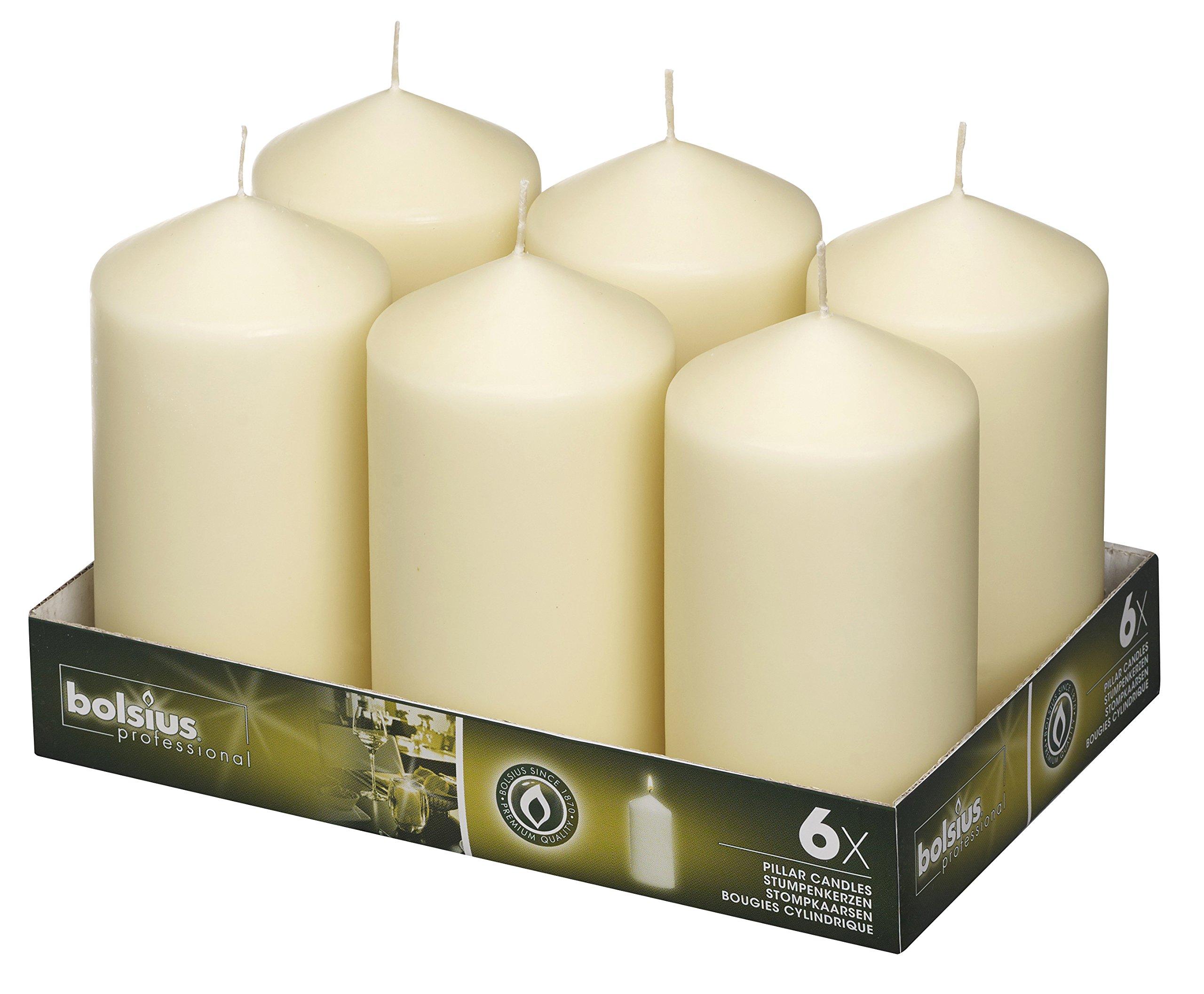 BOLSIUS Wedding Pillar Candles inches