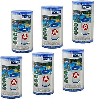 INTEX - Juego de 6 Cartuchos de Filtro (Tipo de filtracion: A)