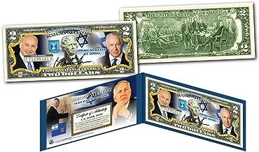 BENJAMIN NETANYAHU Israel Prime Minister GENUINE Legal Tender U.S. $2 Bill