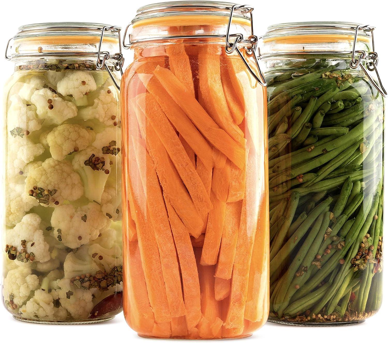 Galashield Glass Jars with Cheap sale Airtight Lids Storage High order Food
