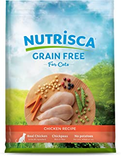 NUTRISCA Potato-Free, Low-Carbohydrate, Grain Free, High Protein Dry Cat Food for Cats and Kittens