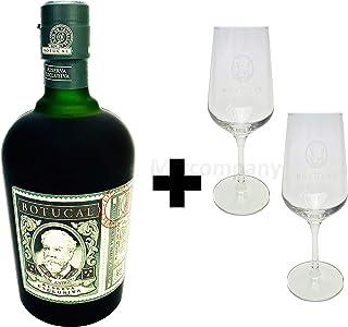 Botucal Reserva Exclusiva Rum mit 2 Botucal Nosing Gläser 0,70l 40% Vol Ron de Venezuela Glas Longdrinkglas - Set - Enthält Sulfite
