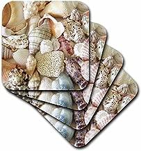 3dRose cst_40854_2 Florida Seashells II Soft Coasters, Set of 8