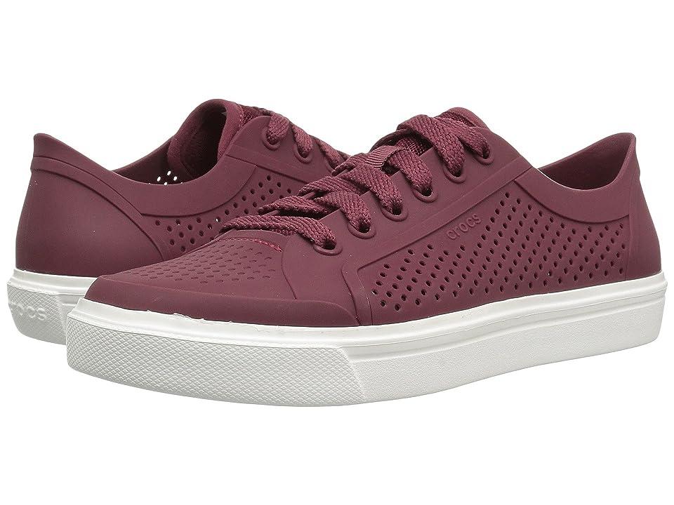 Crocs CitiLane Roka Court (Garnet/White) Lace up casual Shoes