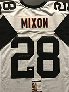 Autographed/Signed Joe Mixon Cincinnati Color Rush Football Jersey JSA COA