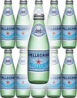 San Pellegrino Sparkling Natural Mineral Water, 8.45oz Glass Bottle (Pack of 10)