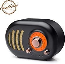 Vintage Bluetooth Speaker Retro Radio-Wireless Stereo Speaker Portable FM Radio with Classic Style, Bluetooth 4.2, TF Card Slot, AUX Input, External Antenna, Answer Phone Call, Loud Volume for Party,