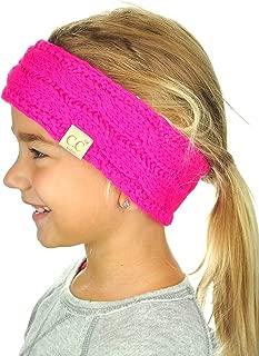 Children's Kids' Winter Warm Cable Knit Fuzzy Lined Ear Warmer Headband
