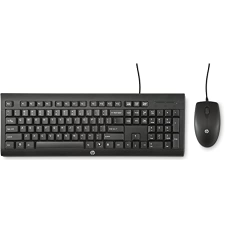 HP C2500 USB Negro, Teclado Alemán, USB, PC/server, Estándar, Derecho, Negro, Rueda