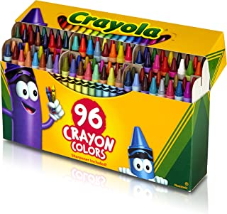 Crayola Crayons with Built-In Sharpener, 96 Count, Gift for Kids
