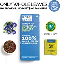 Onlyleaf Butterfly Pea Green Tea, 27 Tea Bags (25 Tea Bags + 2 Free Exotic Samples )