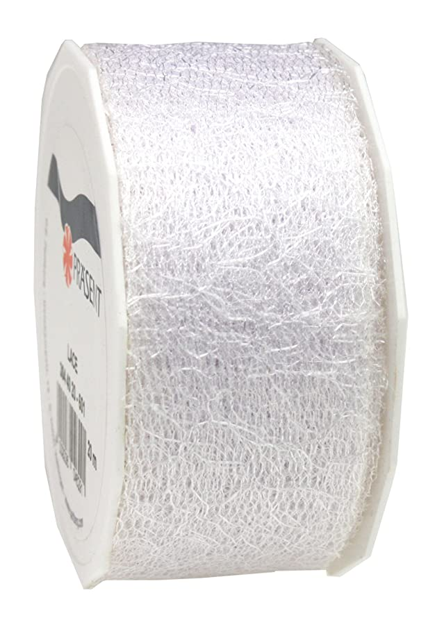 Pr?sent C.E. 40 mm - 20 m Pattberg Ribbon Lace/Organza, White