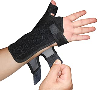 IRUFA,TB-OS-38, 3D Breathable Fabric RSI Wrist Thumb Spica Splint for Carpal Tunnel Syndrome, BlackBerry Thumb, Trigger Finger, Mommy Thumb Brace, Sprains, Arthritis and Tendinitis (Left Hand)