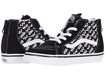 Vans Kids Sk8-Hi Zip (Infant/Toddler) ((Logo Repeat) Black/True White) Kids Shoes