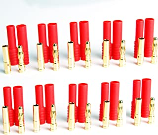 Lot(10) 4MM Bullet Banana Connector Plug & Housing Male Female Plug Set for RC Battery Power FPV-RC Vehicle Electric Motor Wire Connectors