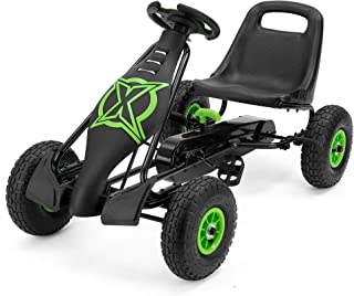 Xootz Viper Racing Go Kart, Kids Ride On Pedal Car with Gear Stick and Handbrake