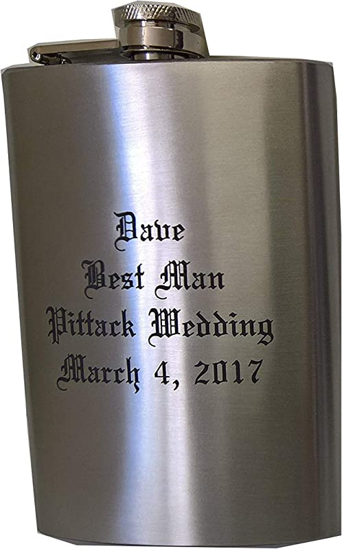 Laser Engraved 8oz Hip Flask You Design And Personalize
