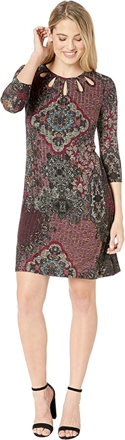 Knit Placement Print Dress