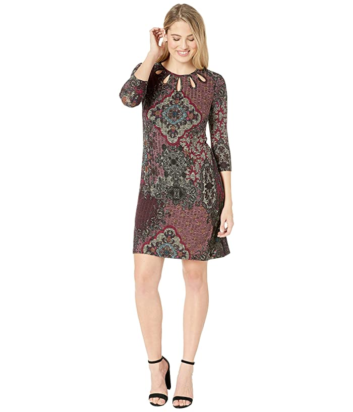 Gabby Skye Knit Placement Print Dress At 6pm