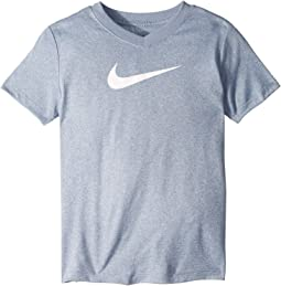 Dry Legend Swoosh V-Neck Tee (Little Kids/Big Kids)