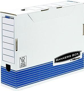 Fellowes 0023601 Boîte d'archives Banker Box System format A3 - Montage automatisque - Dos de 10cm Bleu/Blanc (lot de 10)