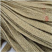 Xpwoz Jute 0,8/1.0/1.5/2,0/2,5/3,0/3,5/4,0/4,5/5,0 cm breed * 10 meter gebreide flat decoratie jute touw hennep touw DIY h...