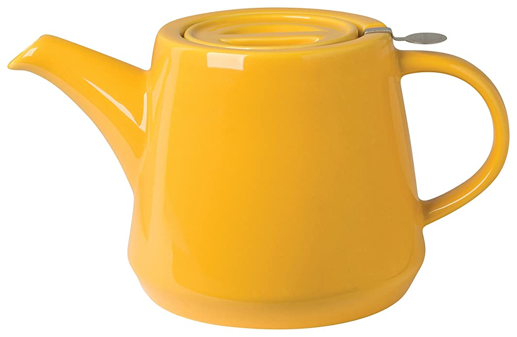 London Pottery Hi-T Teapot with Stainless Steel Infuser, 4 Cup Capacity, Honey Yellow