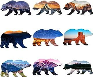 ملصقات GTOTd في الهواء الطلق البرية الدب (9 قطع) ملصق فينيل ديكال 4 × 4 بوصة - جهاز الكمبيوتر المحمول، والهاتف، والممتص ال...