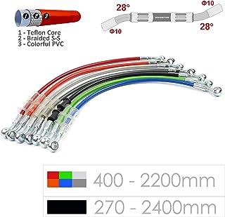 Moto Tube Frein Tube dEssence et Frein pour Moto 1200 mm Acier Ligne Frein en Tresse Moto Tube Hydraulique Frein