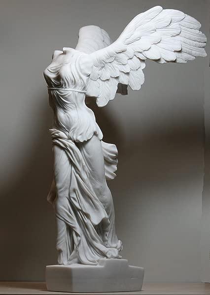 Greekartshop Winged Nike Victory Of Samothrace Goddess Cast Marble Statue Sculpture 14 17