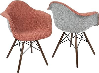 WOYBR CH-NFLF R+E2 Fabric, Wood, Metal Neo Flair Duo Chair