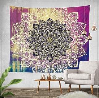 Goldbeing indischer Wandteppich Wandbehang Mandala Tuch Wandtuch Gobelin Tapestry Goa Indien Hippie-/ Boho Stil als Dekotuch/Tagesdecke indisch orientalisch Psychedelic 150 x 130cm, Style 2