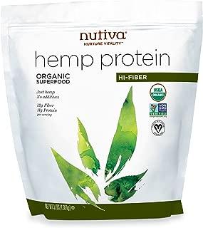 Nutiva Organic, Cold Processed Hemp Seed Protein, Hi-Fiber 3lb