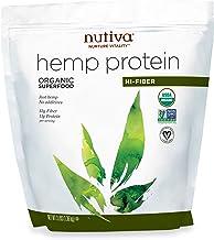 Nutiva Organic Cold-Pressed Hemp Seed Protein Powder, Hi-Fiber, 3 Pound