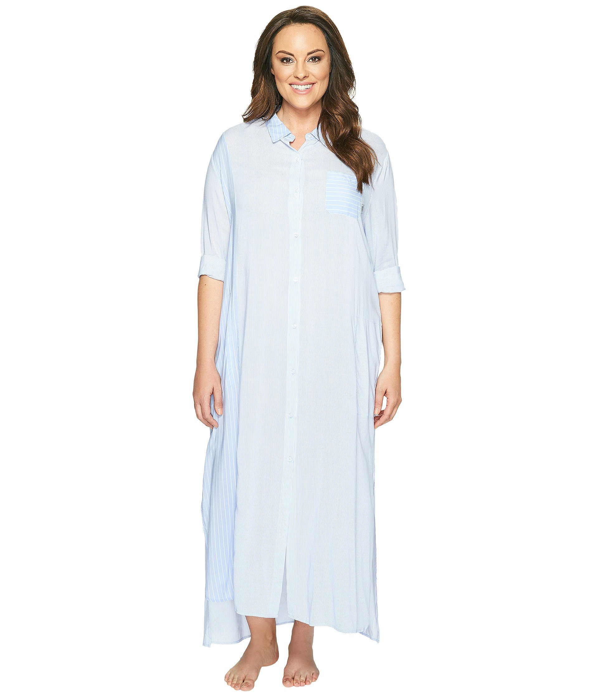 Babydoll DKNY Plus Size Fashion Long Sleeve Maxi Robe  + DKNY en VeoyCompro.net