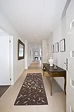 Ottomanson Otto Home Contemporary Leaves Design Modern Runner Rug